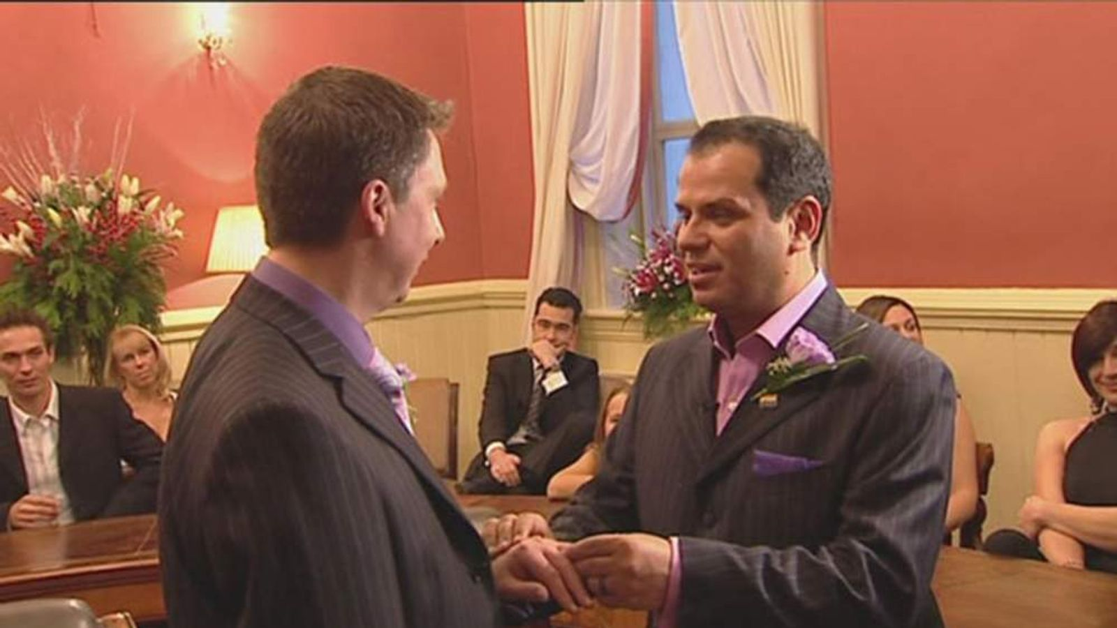 Two gay men get married - form civil partnership