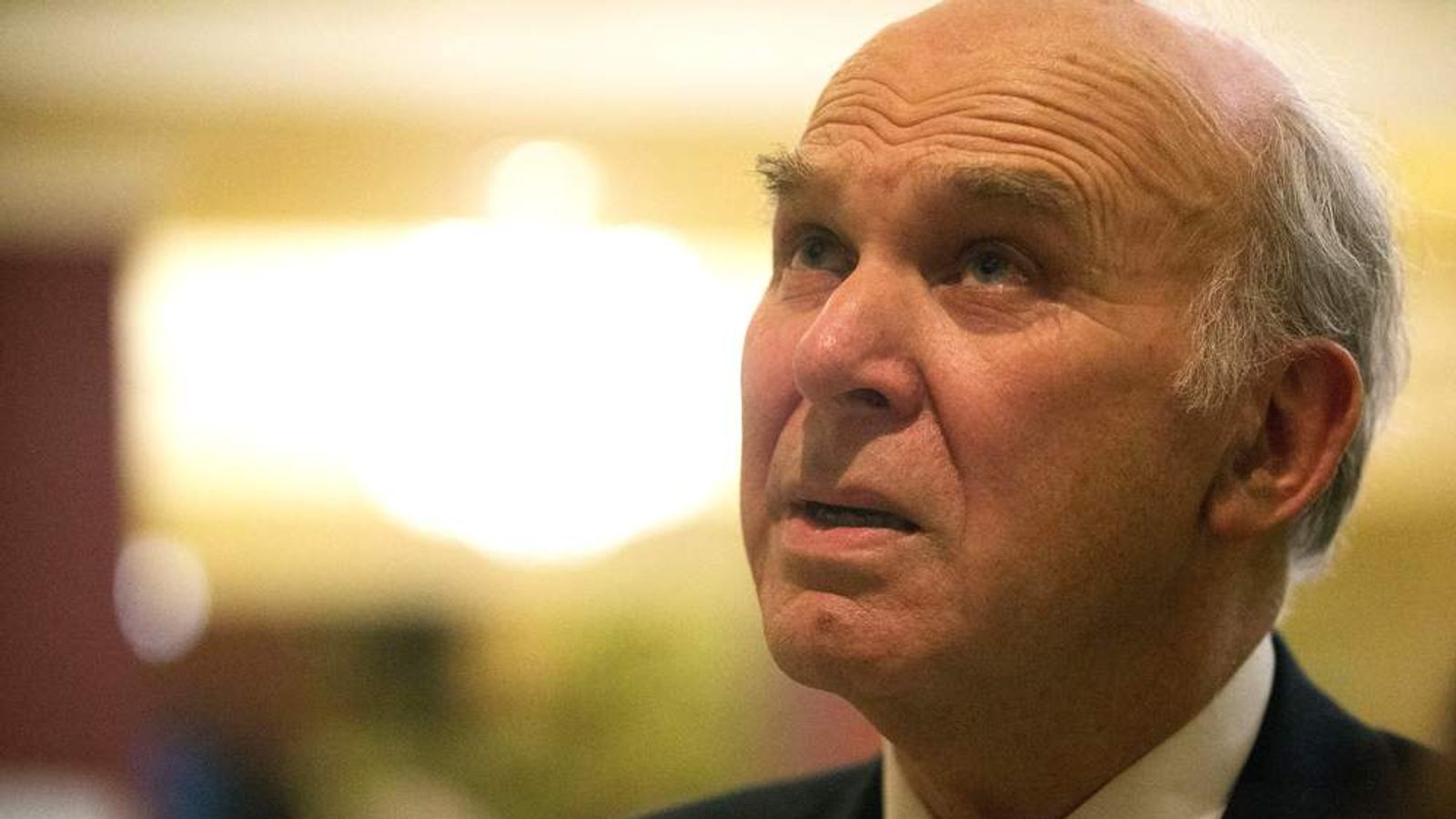 Vince Cable at Liberal Democrat spring conference in Brighton