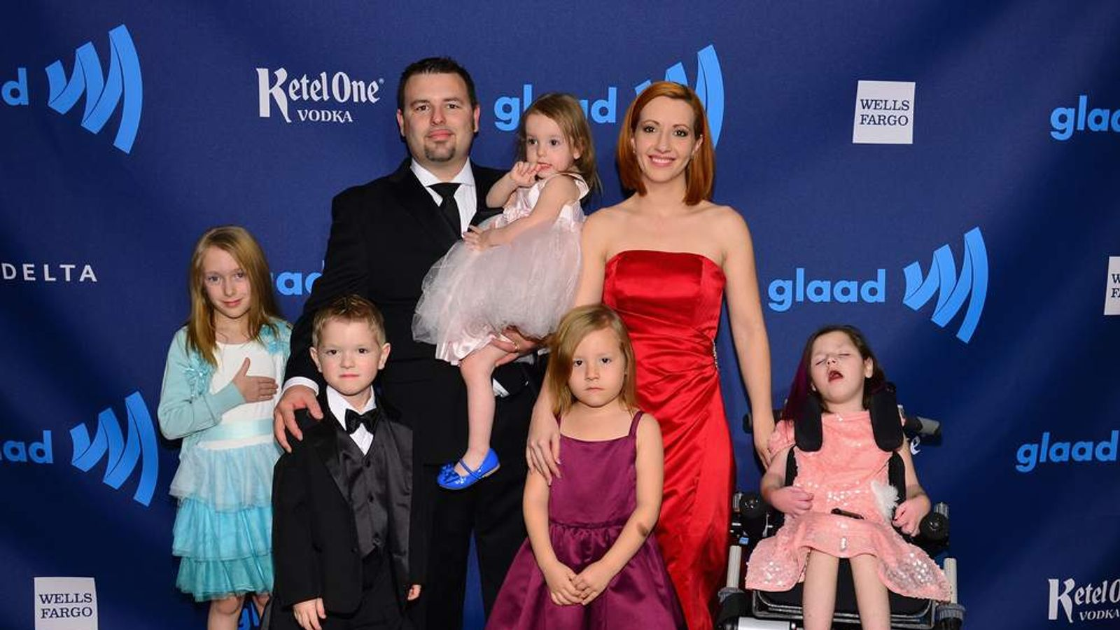 Coy Mathis and her family at the GLAAD Media Awards