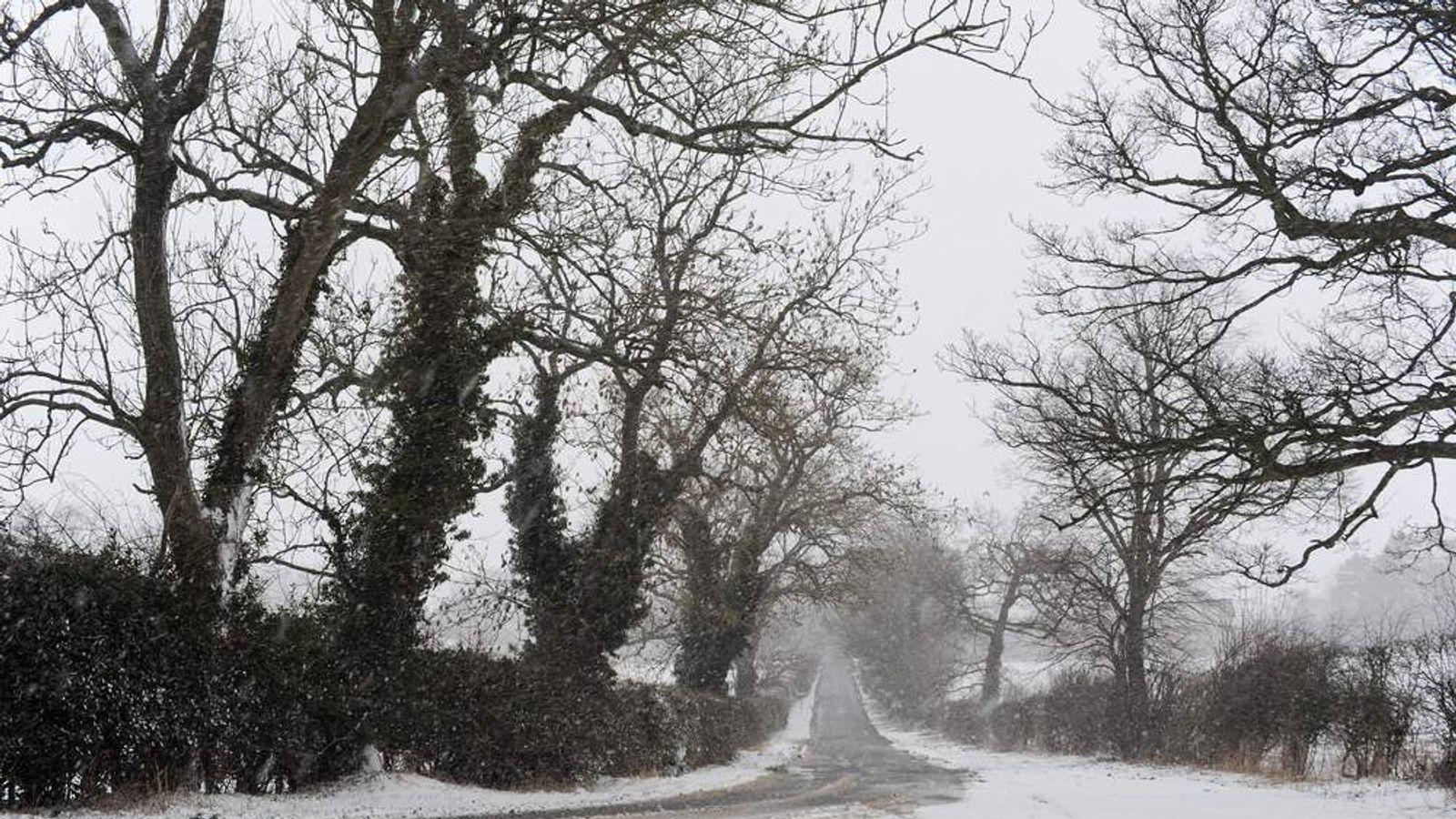 Snow And Rain Hit Britain