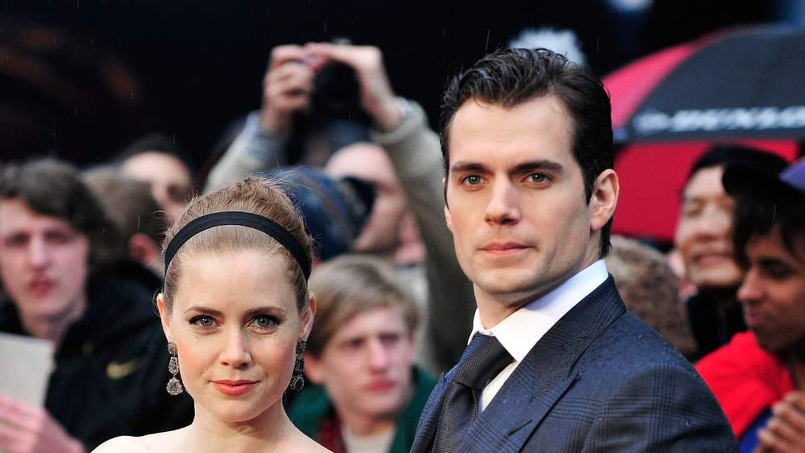 Amy Adams and Henry Cavill at the UK premiere of Man Of Steel.