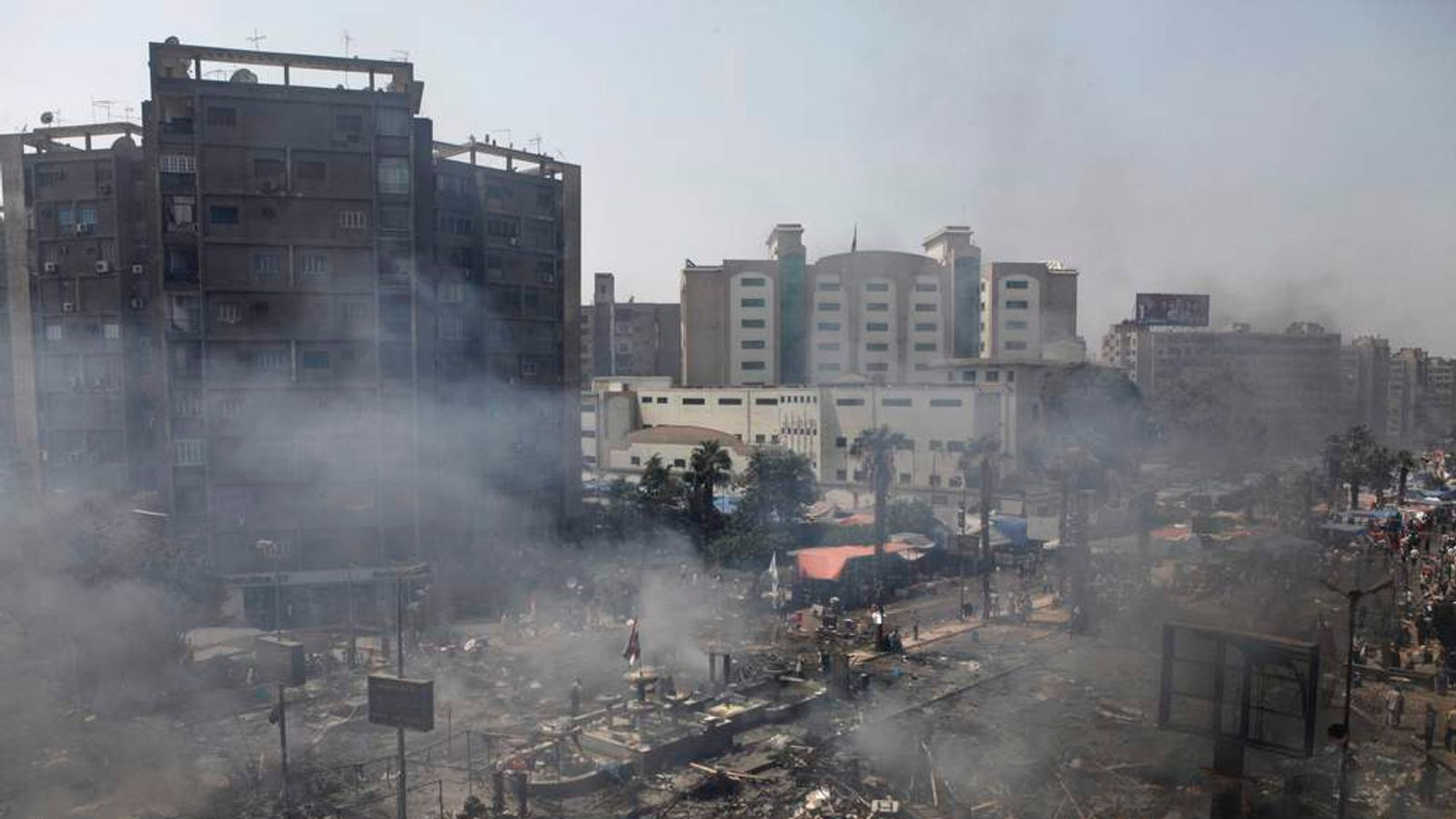 Scene After Clashes In Cairo Egypt