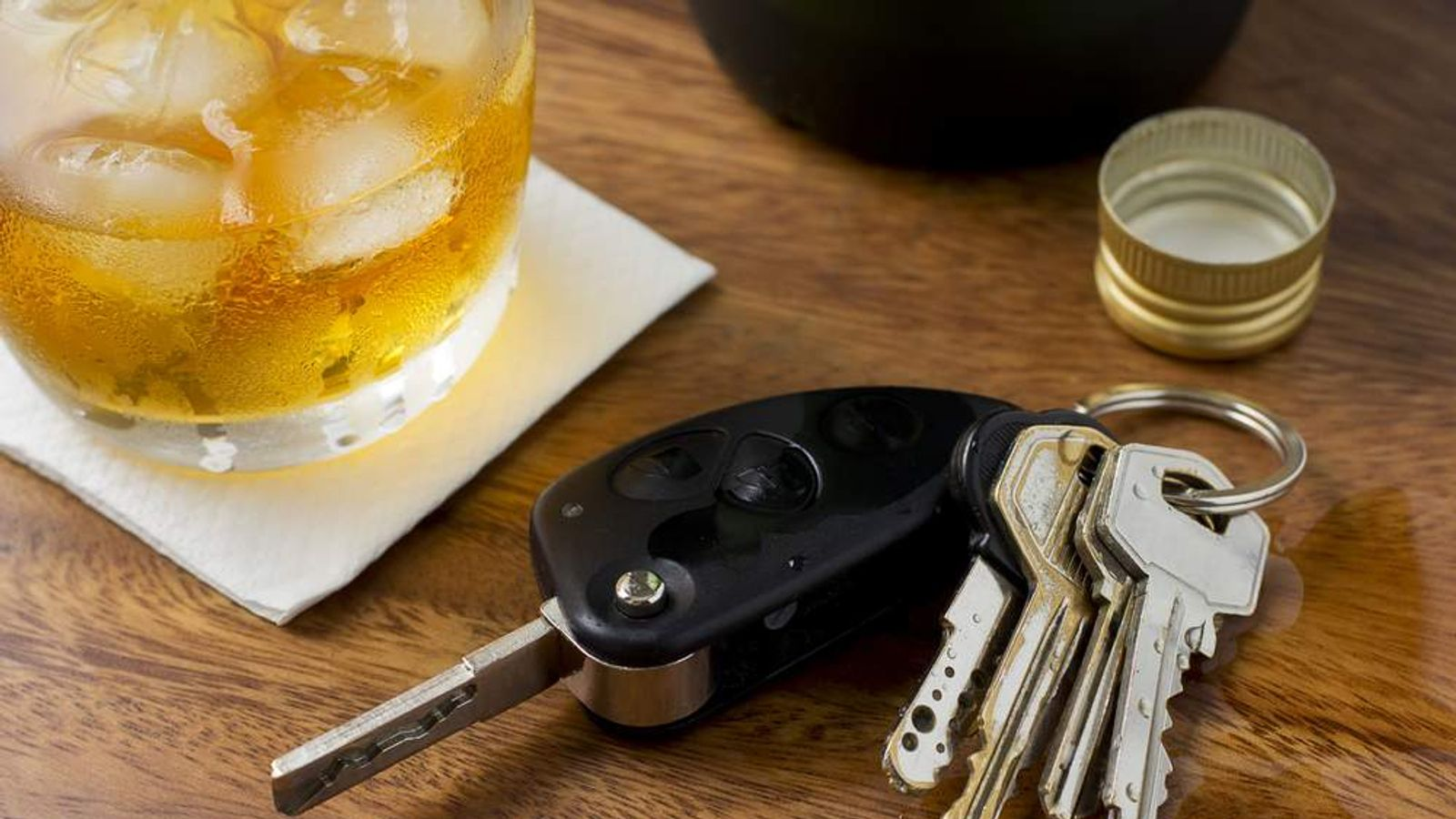 Alcohol and keys