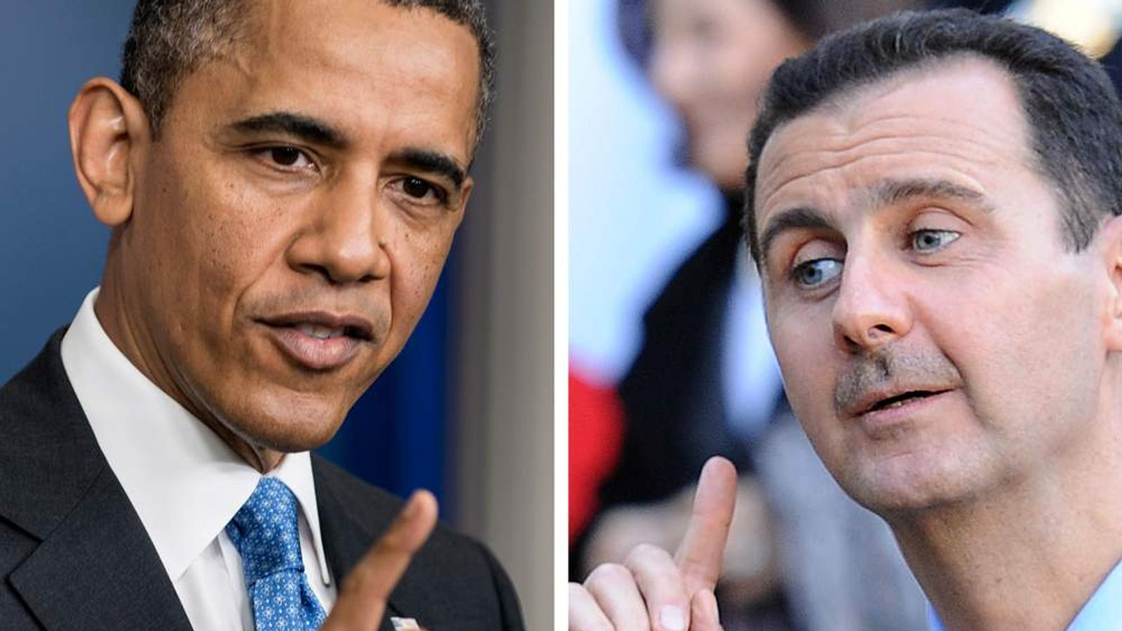 Barack Obama and Bashar al Assad