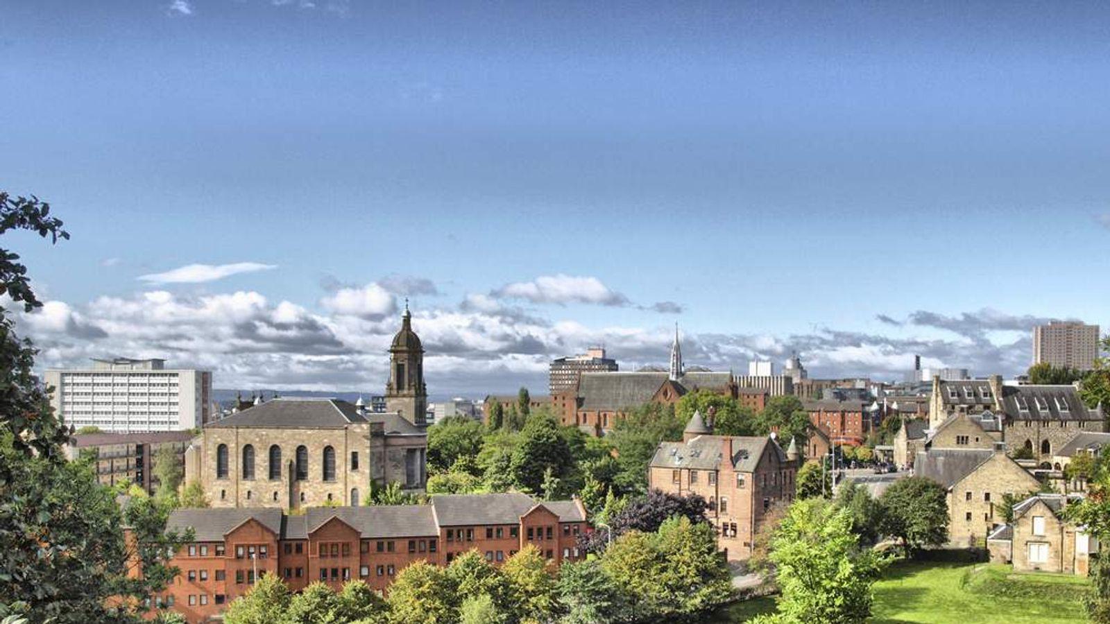 The Scottish city of Glasgow