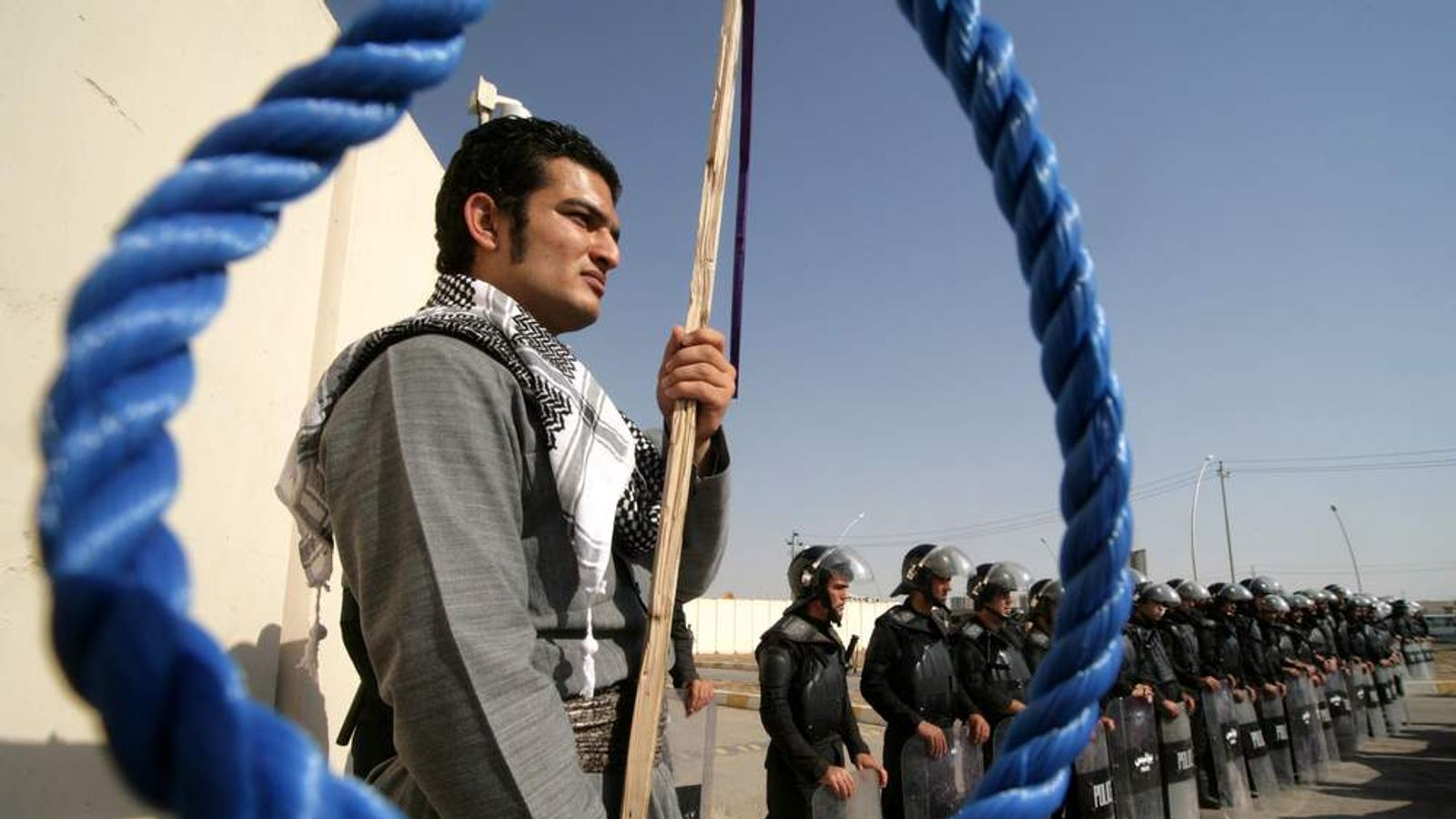 A protest against the execution of Kurdish rebels in Iran.