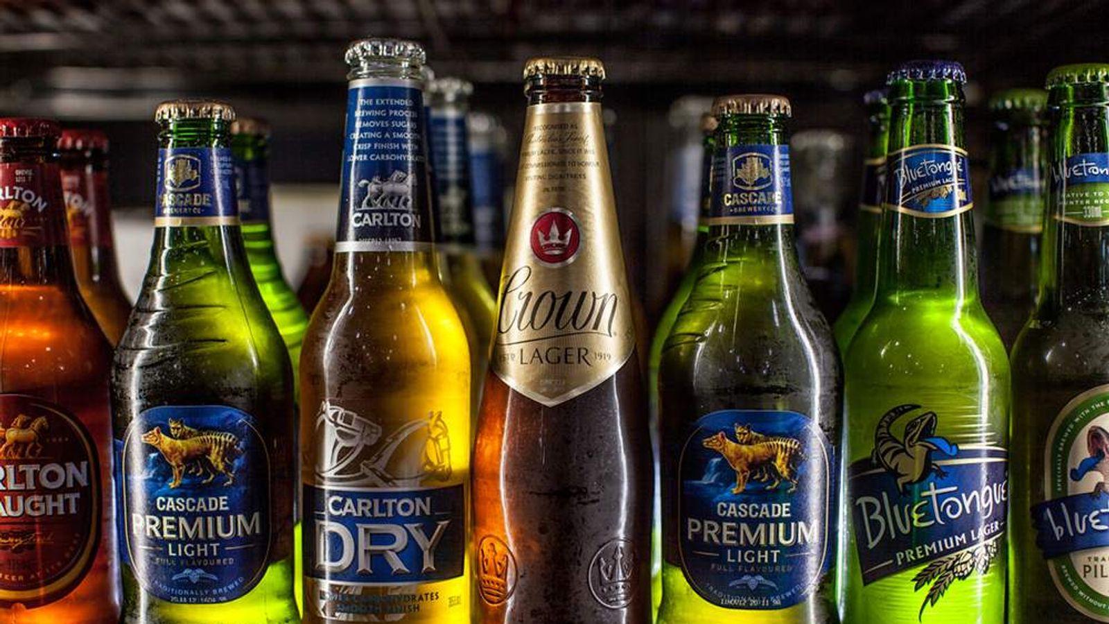 SABMiller bottles