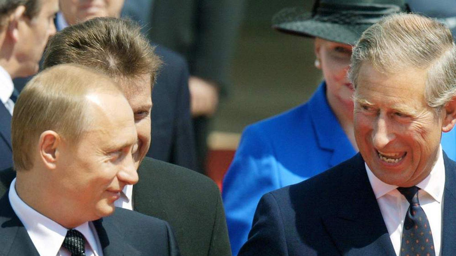 Vladimir Putin and Prince Charles.