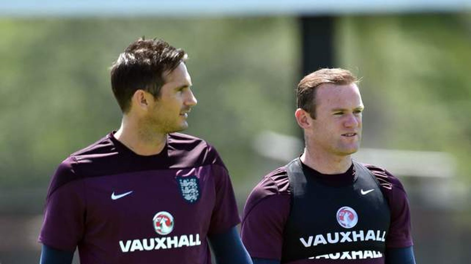 Frank Lampard and Wayne Rooney
