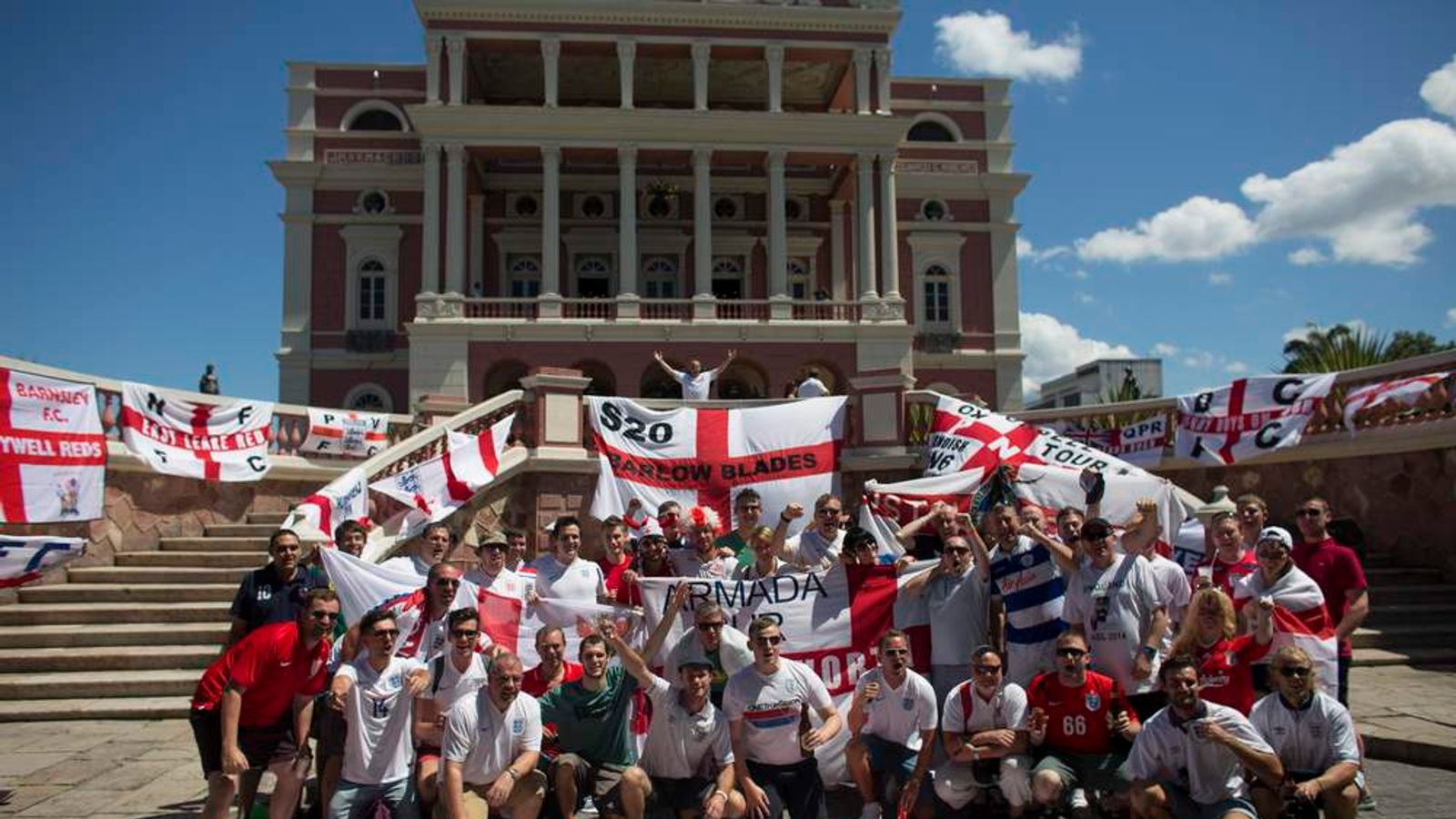 England Fans World Cup Tour - England Versus Italy