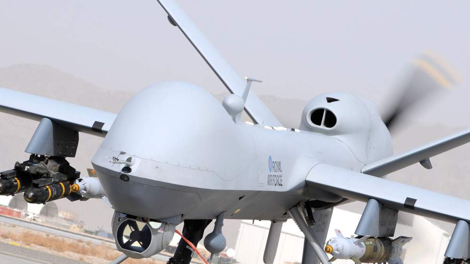 A MQ-9 Reaper drone. Picture: Ministry of Defence