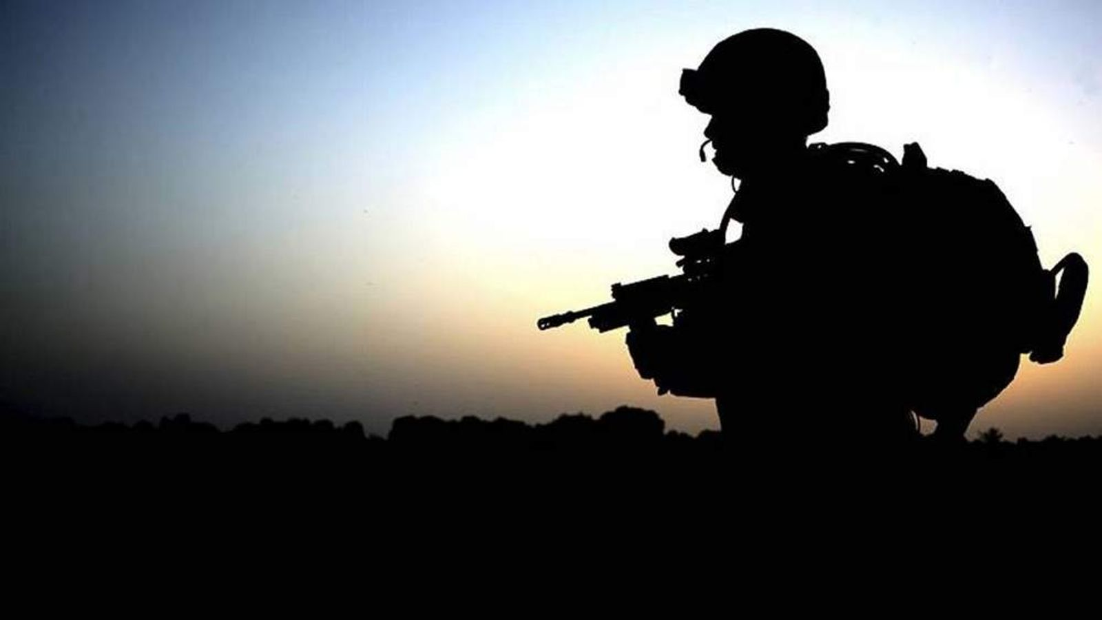 Soldier with 1 Welsh Guards Returns from a Patrol in Afghanistan