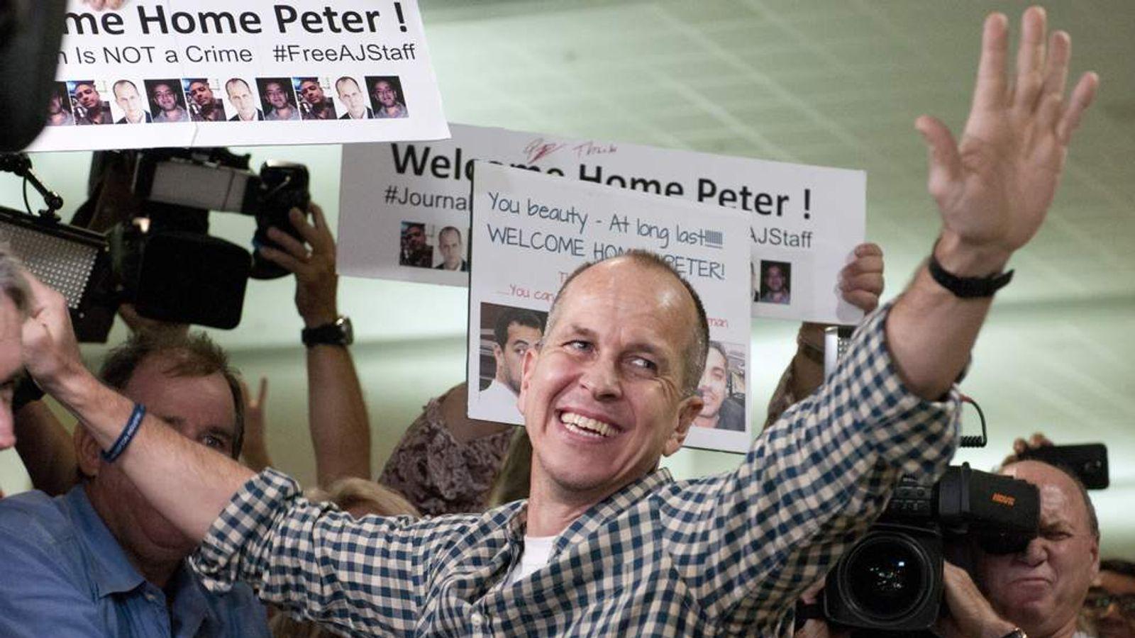 Peter Greste Arrives Back In Australia