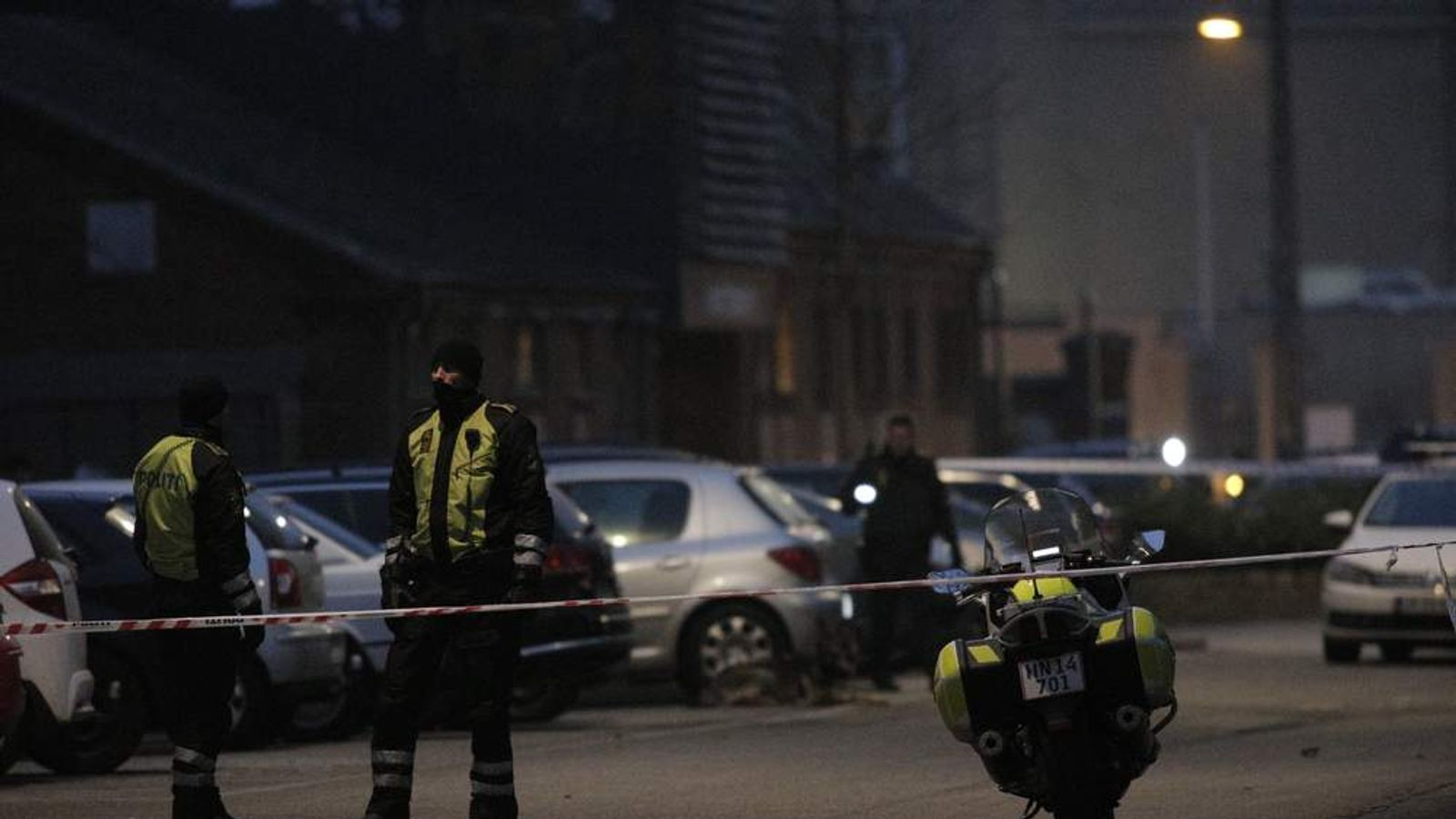 COPENHAGEN SHOOTING Police secure area