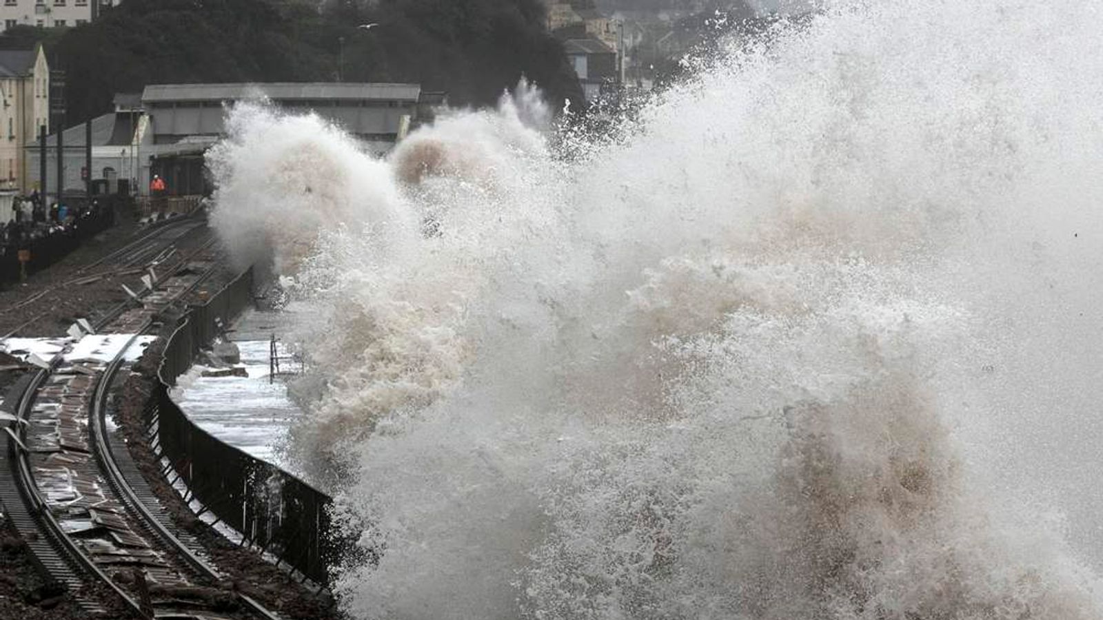Storms Hit South West Of England At Dawlish