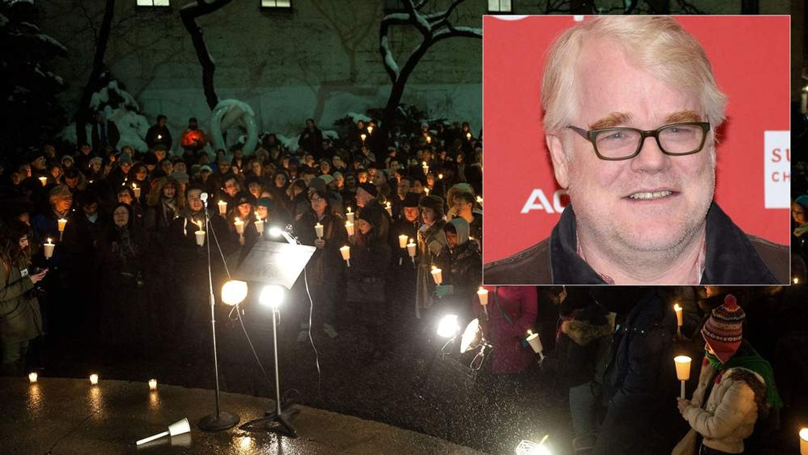 Candlelight Vigil For Philip Seymour Hoffman