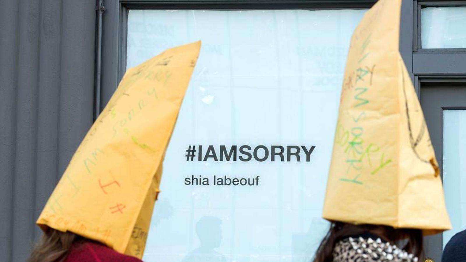 "Shia LaBeouf ""IAmSorry Art Installation"
