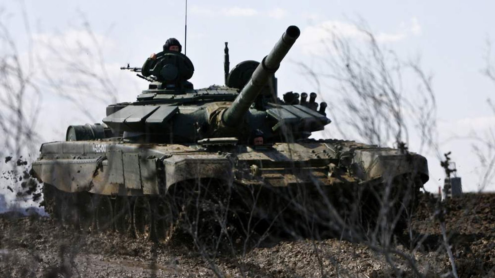 Dozens of Russian tanks have entered Ukraine (File Pic)