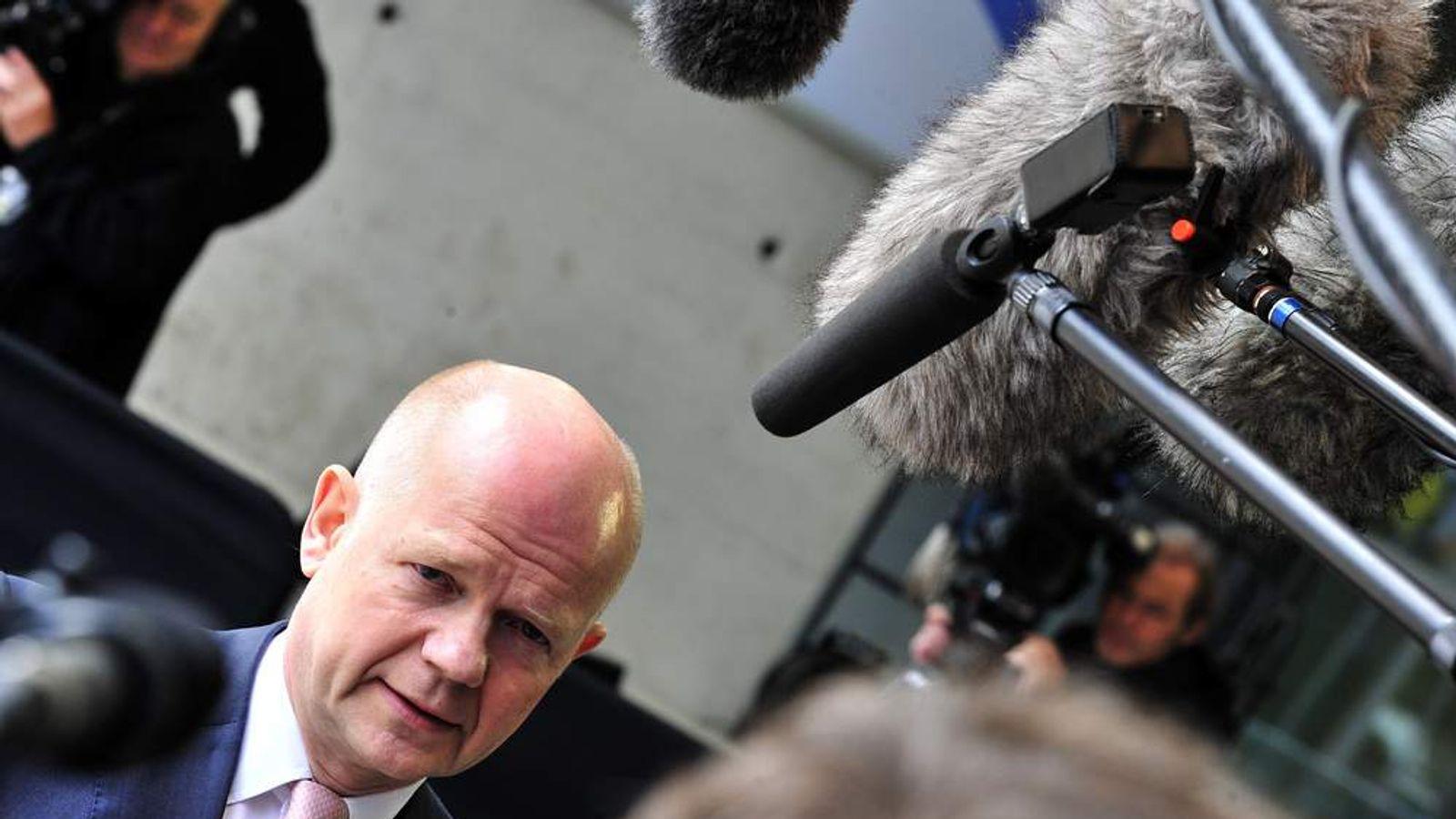 UK Foreign Secretary, William Hague