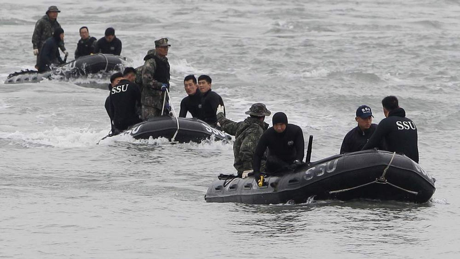 Rescue and Search Continue At The Site Of Ferry Disaster Off South Korea