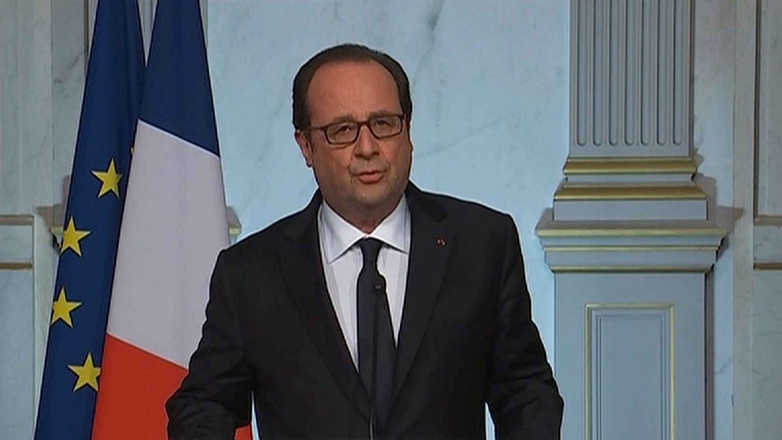 France's Hollande speaks about truck attack in Nice, France