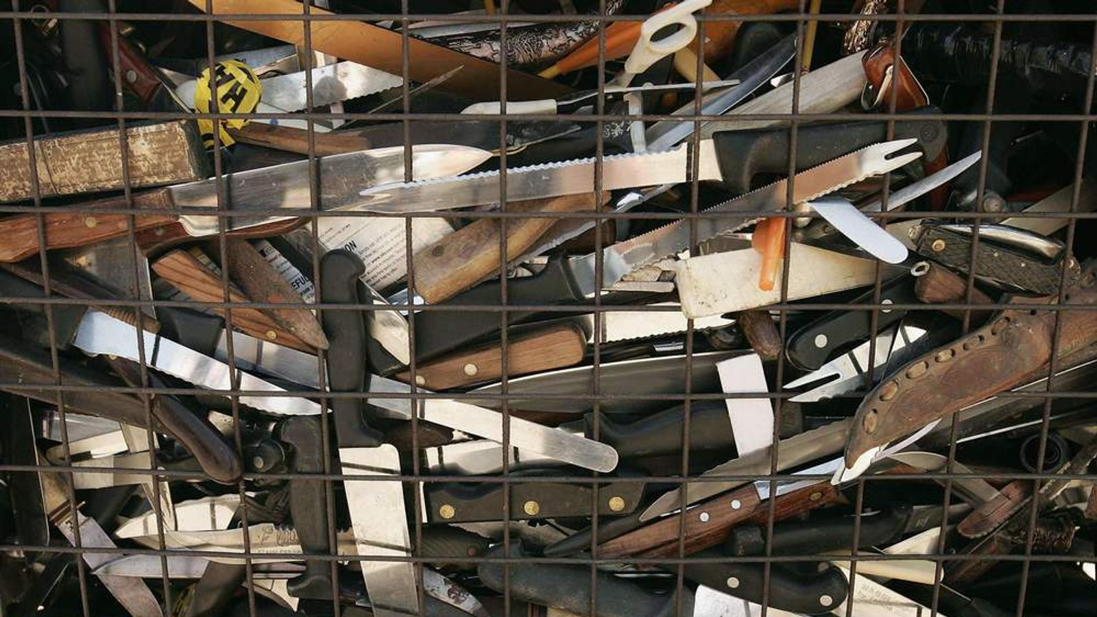 Knives and other weapons have been carried into schools by students.