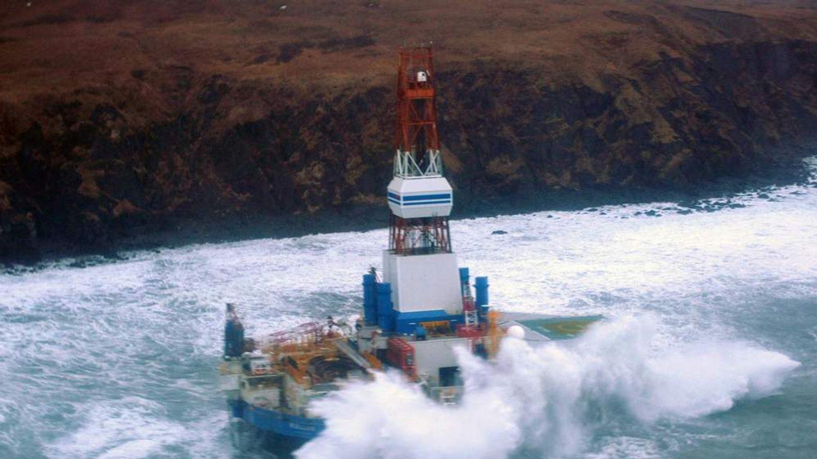 Royal Dutch Shell drilling rig Kulluk