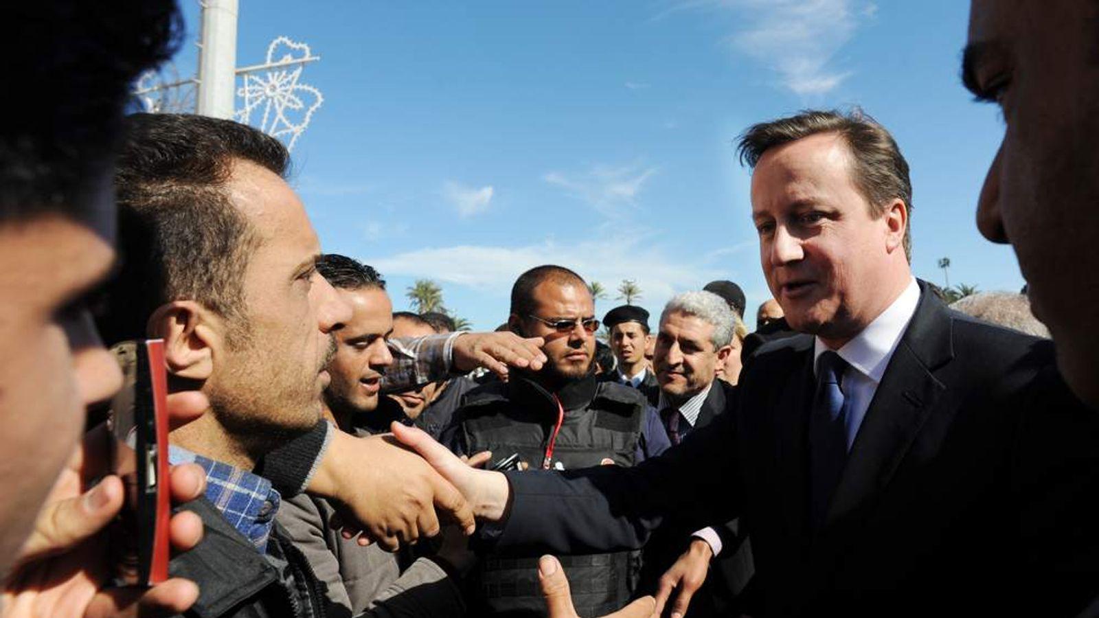 David Cameron in Libya