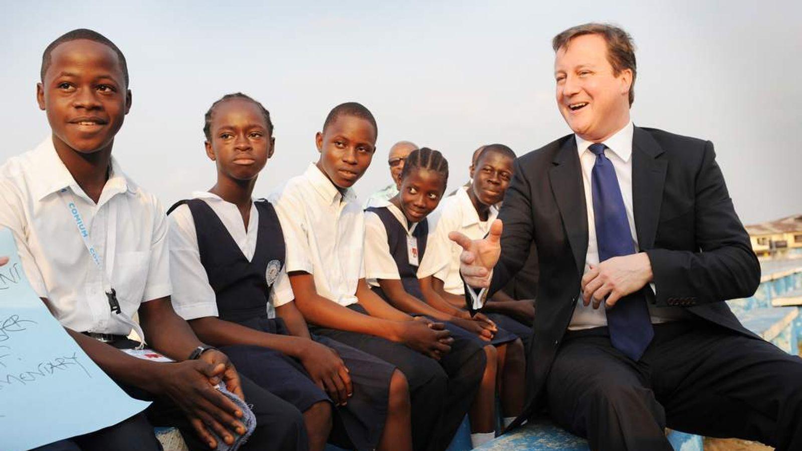 David Cameron in Liberia