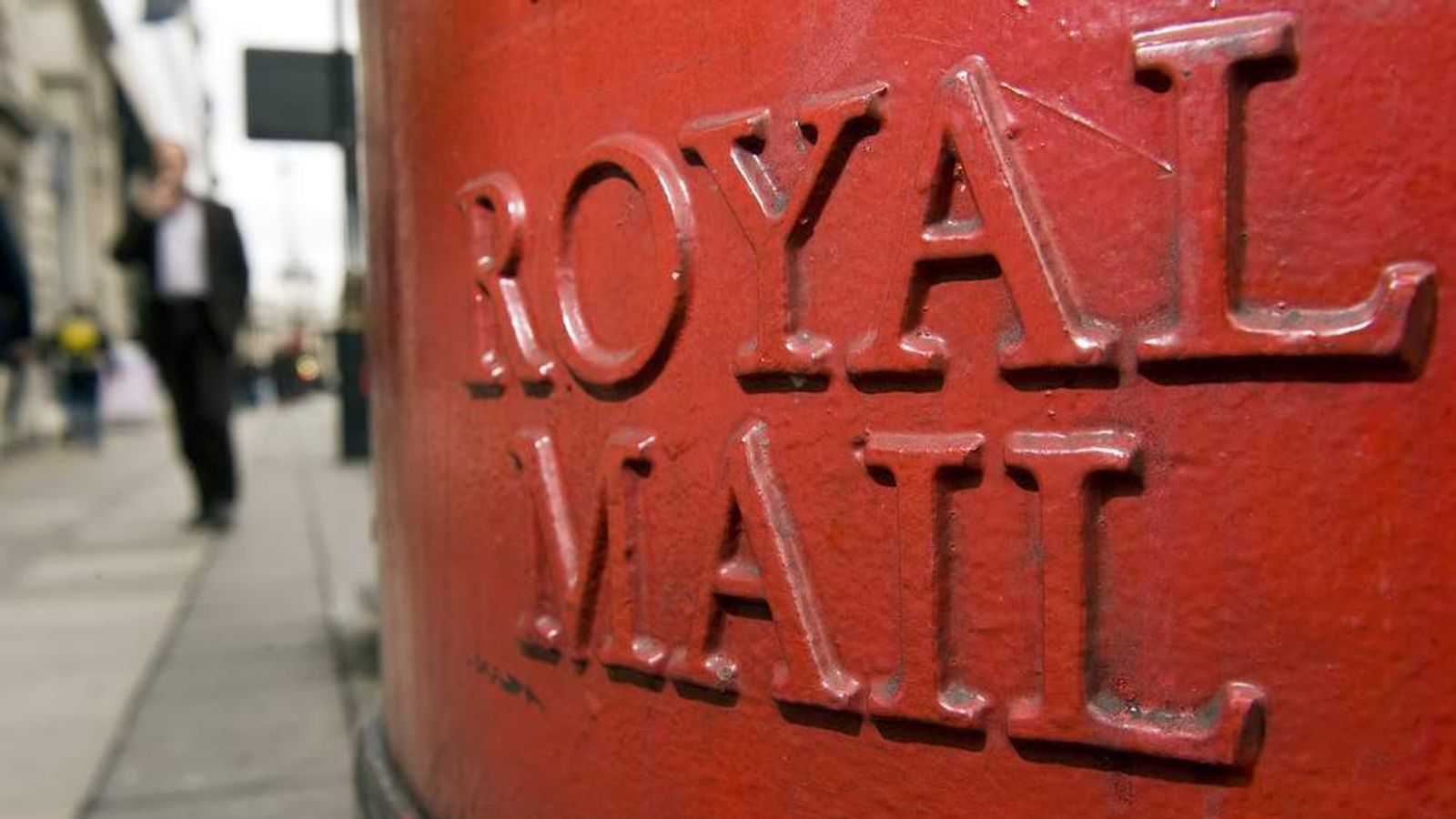 A Royal Mail postbox