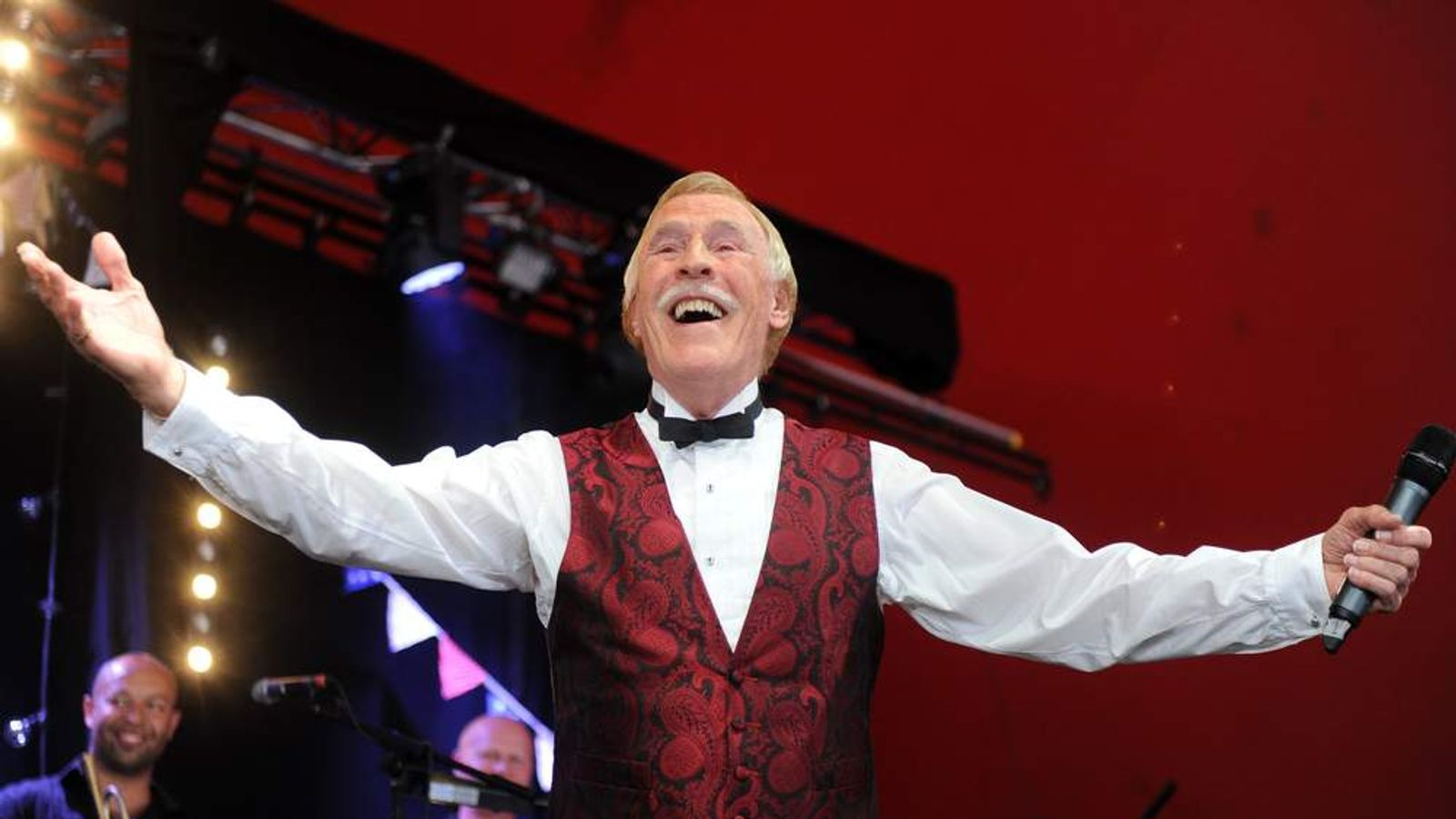 Sir Bruce Forsyth performing on the Avalon stage at the Glastonbury 2013 Festival