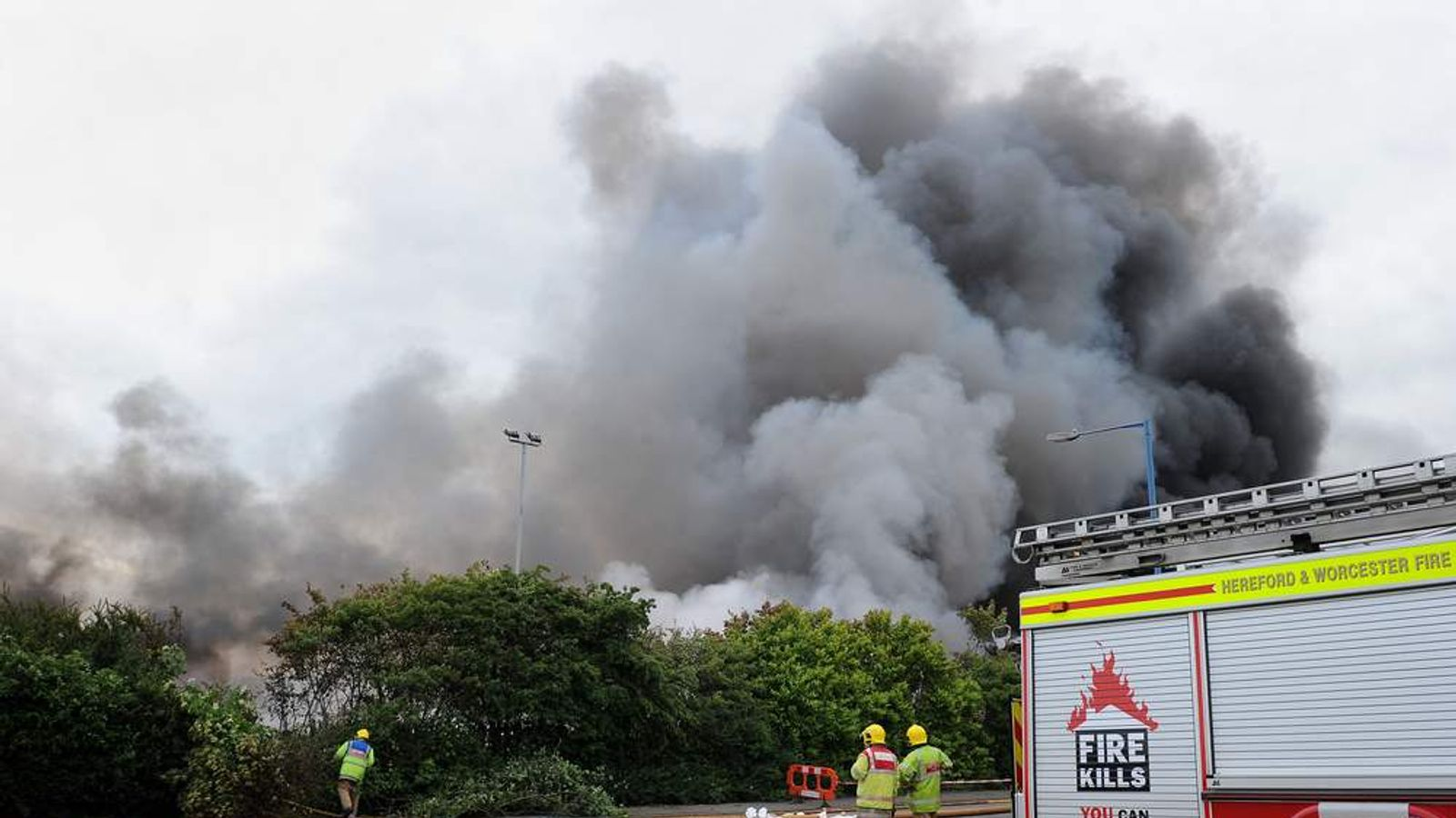 Birmingham recycling plant fire