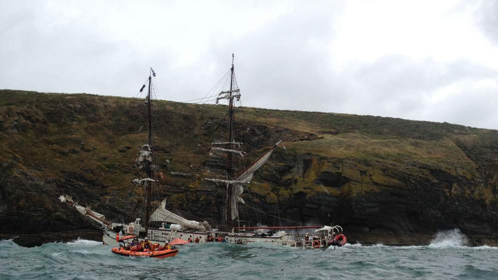 Tall Ship Astrid Sinks Off Ireland Coast