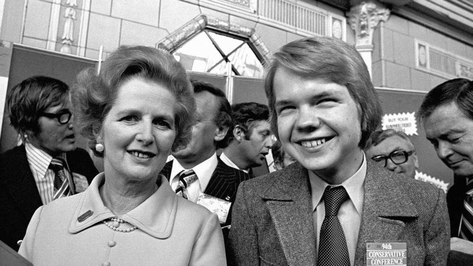 William Hague with Margaret Thatcher in 1977