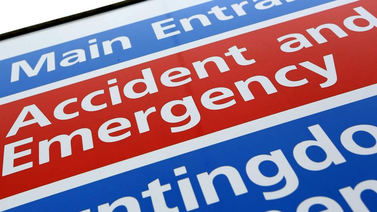 Accident And Emergency A&E Department
