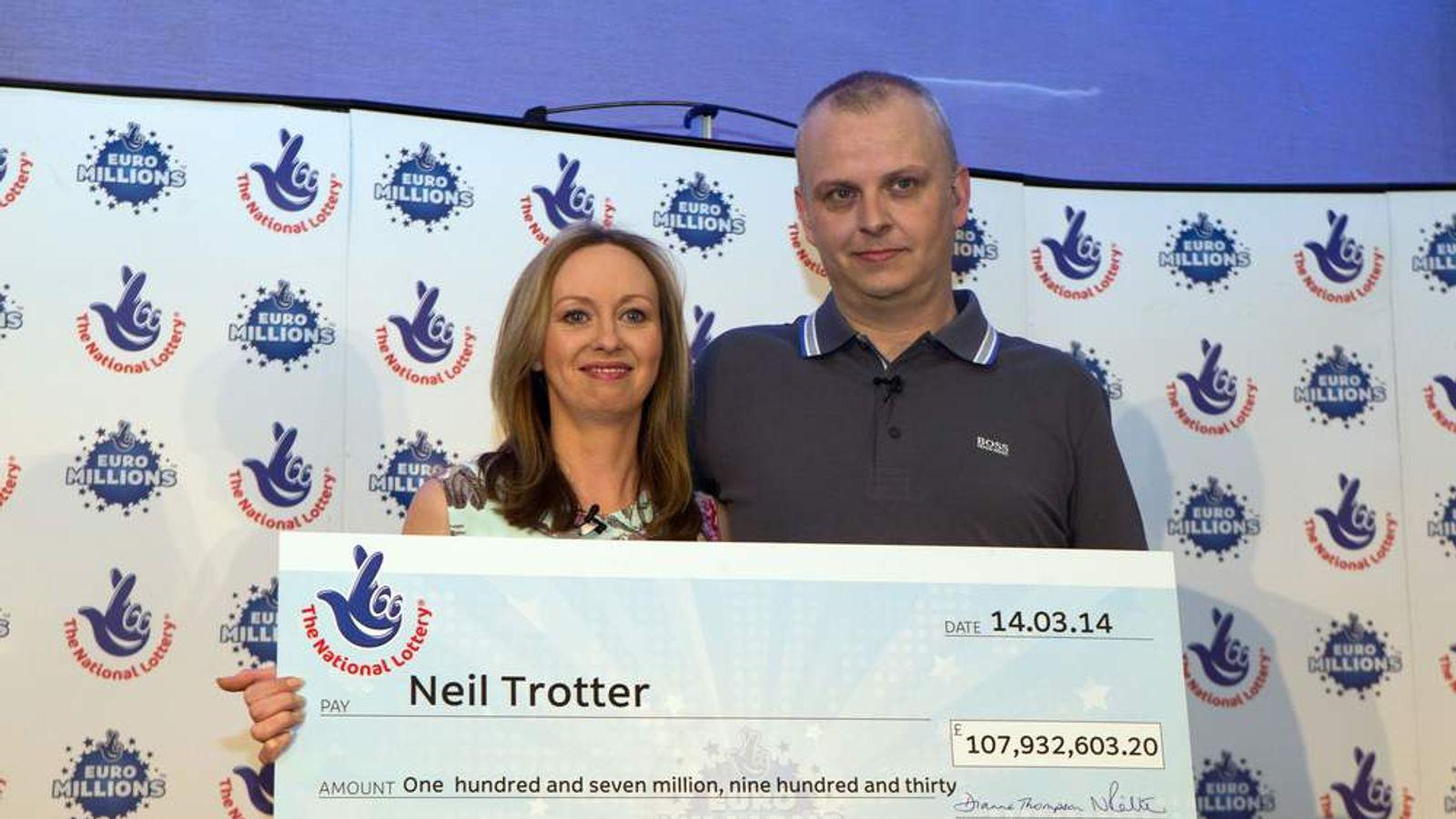 Euromillions lottery jackpot winner