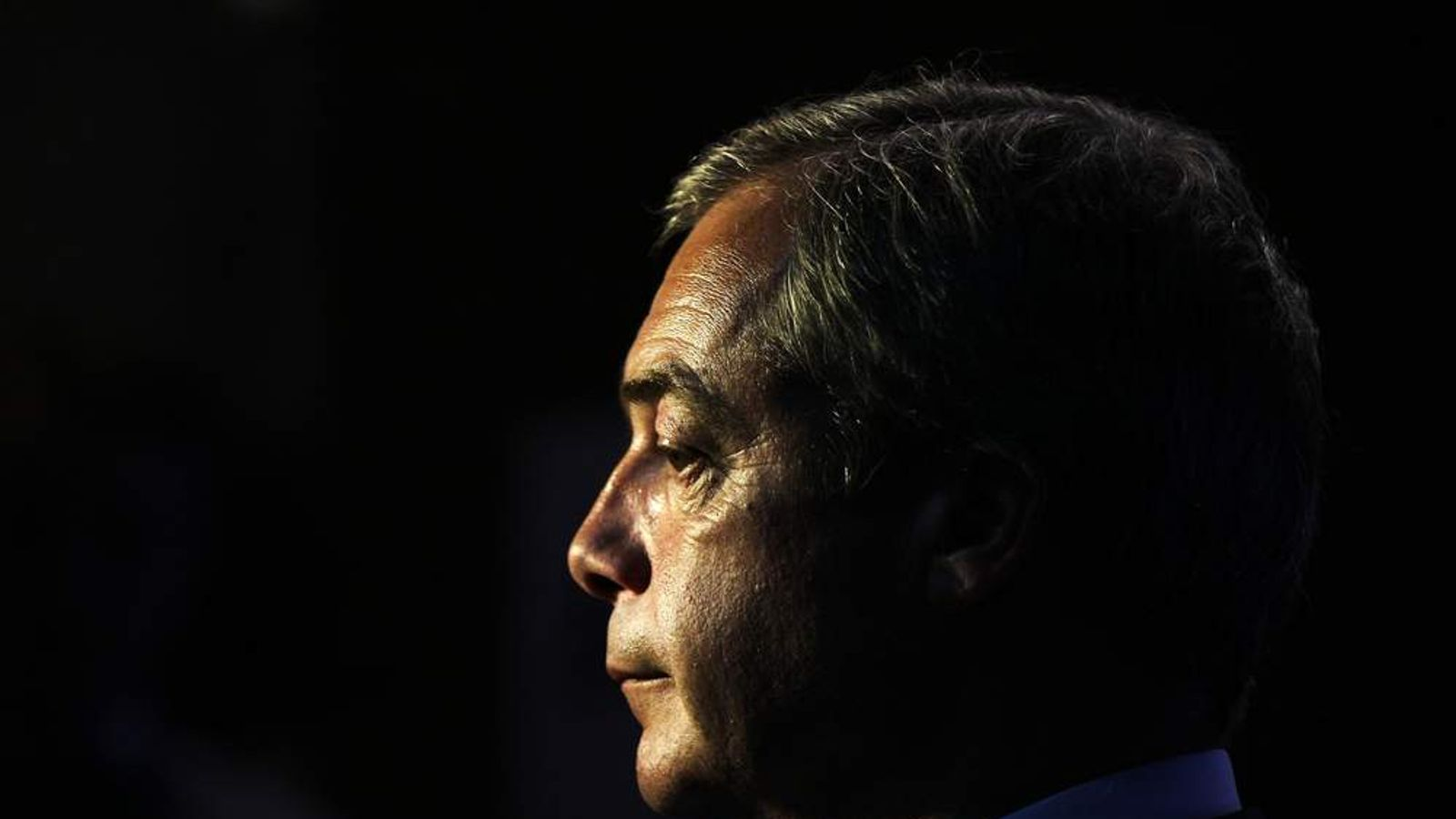 UKIP leader Nigel Farage at the Newark by-election count.