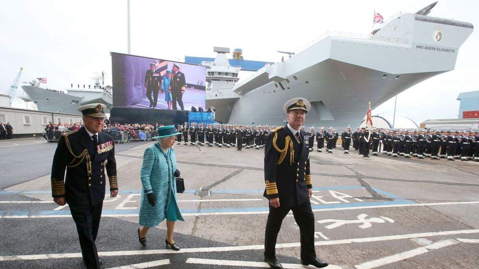 HMS Queen Elizabeth naming ceremony