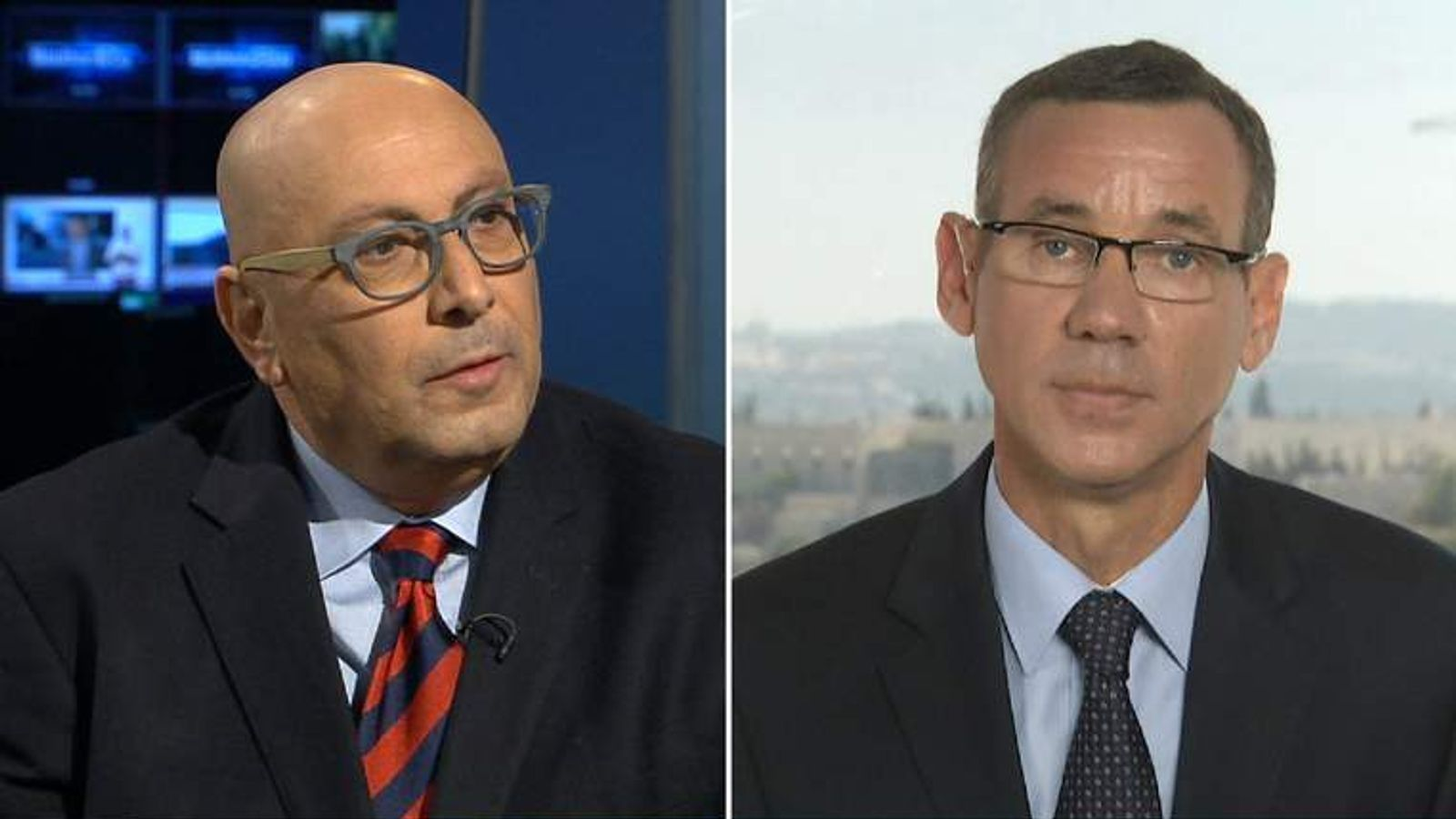 Professor Manuel Hassassian (L) and Mark Regev