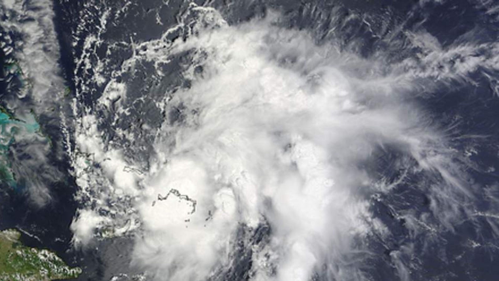 NASA picture of Hurricane Bertha (upgraded from Tropical Storm)