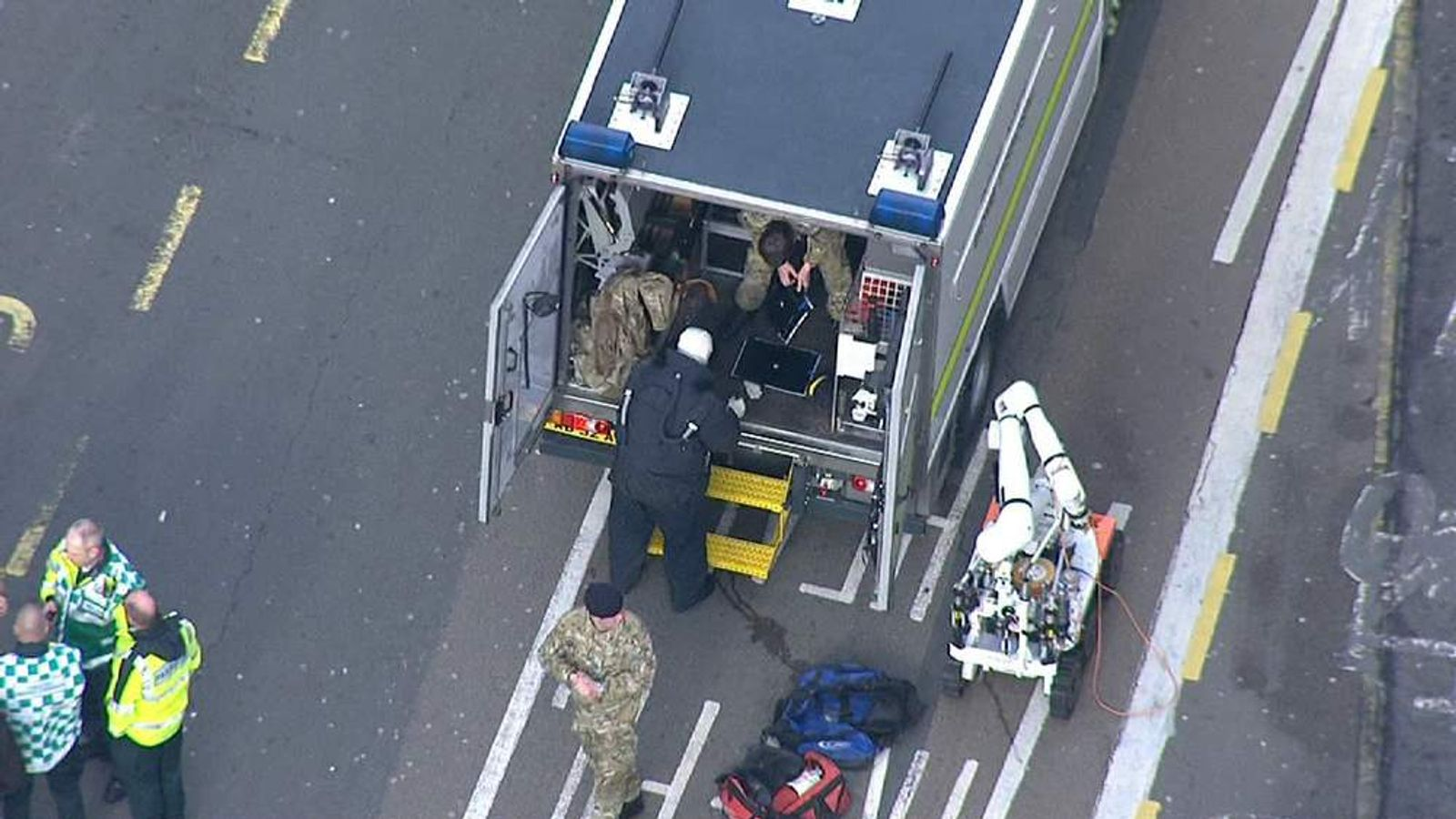 The Army Bomb Disposal Squad in Brighton