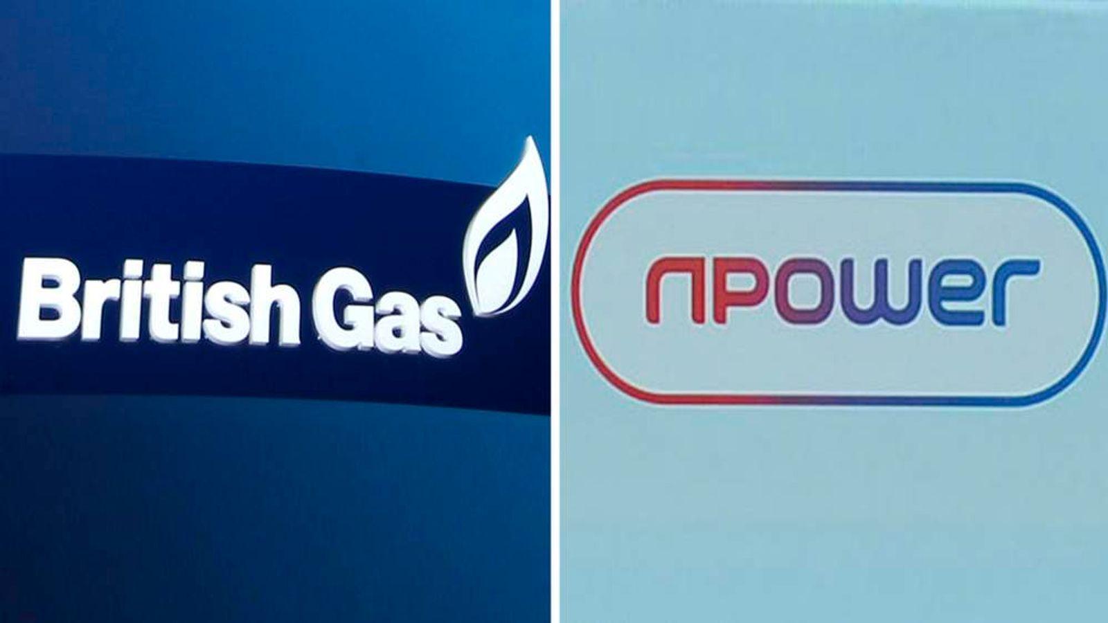 British Gas and Npower logos