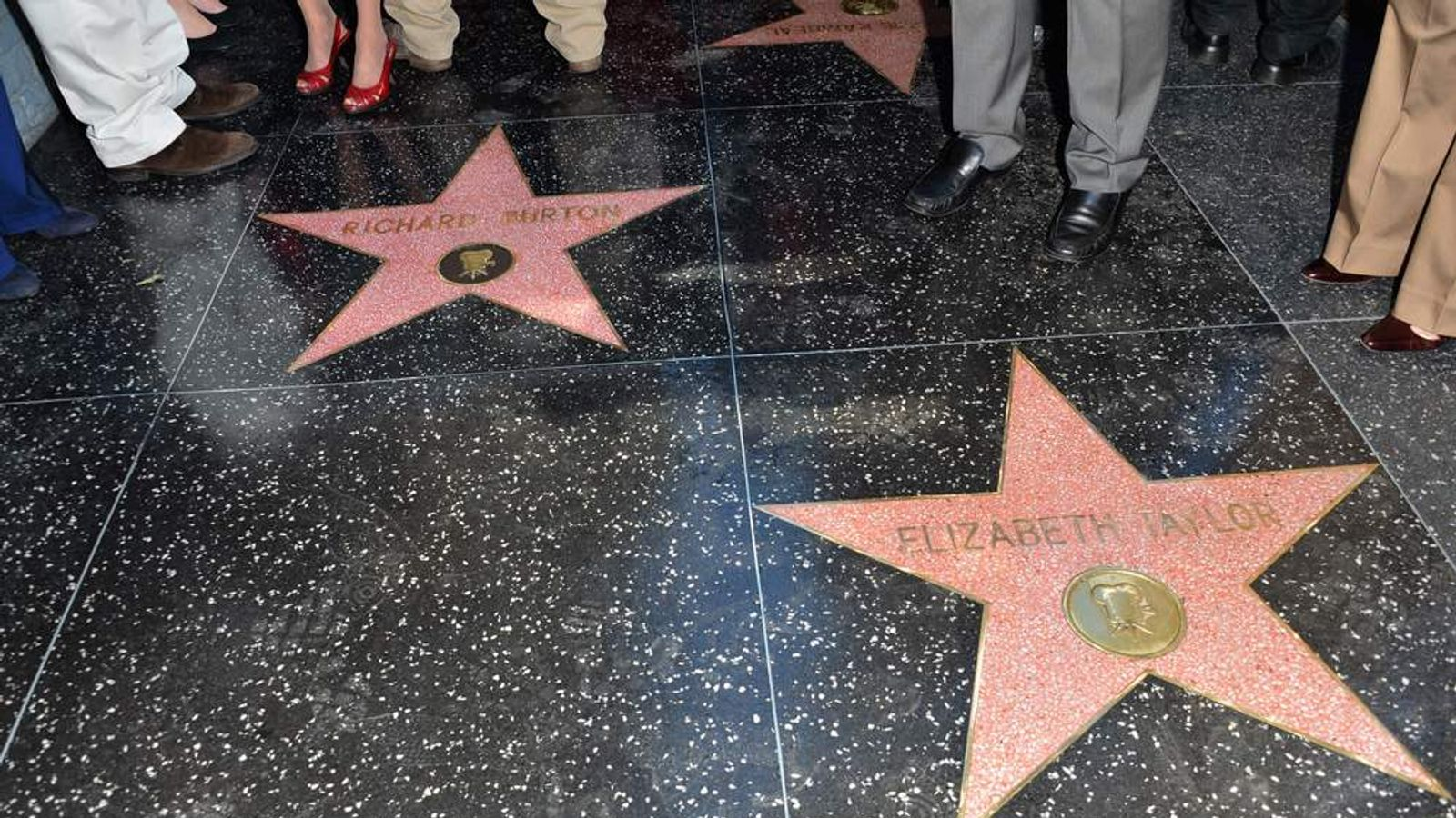 Richard Burton Honored On The Hollywood Walk Of Fame