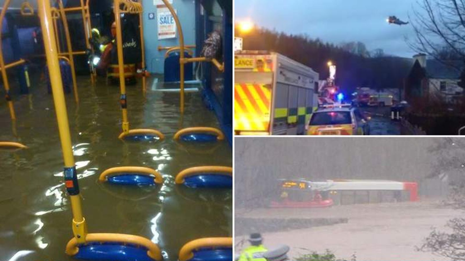 It took more than five hours to evacuate the bus. Pics: Alan Wilson/stevie-montherradio/Shiona Quick