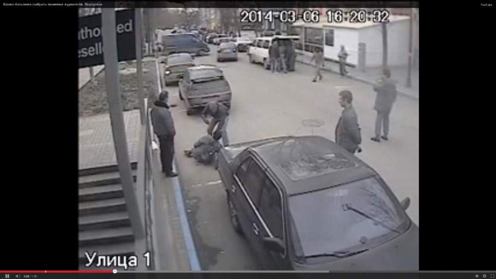 Bulgarian camera crew have their equipment taken away at gunpoint