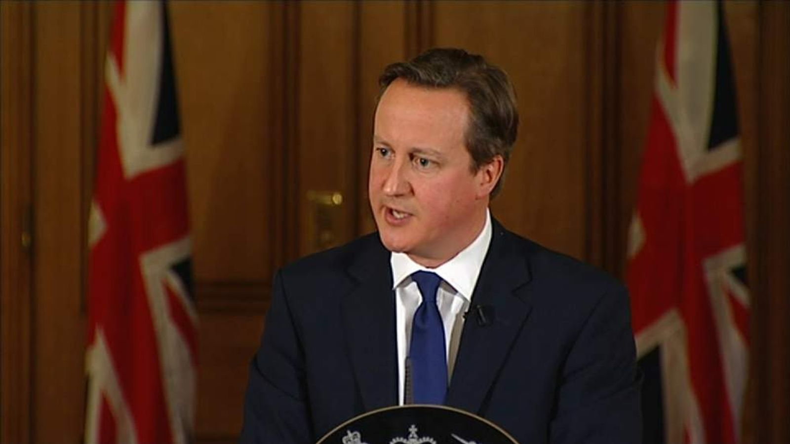 David Cameron holds a Downing Street news conference