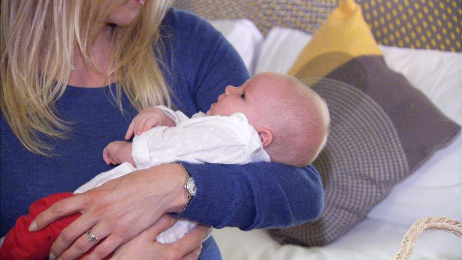 Caroline Stroud and her baby, Zara