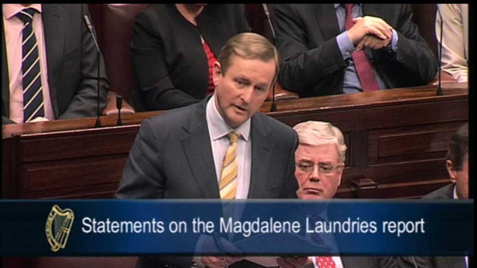 Irish prime minister Enda Kenny makes statement on the Magdalene Laundries