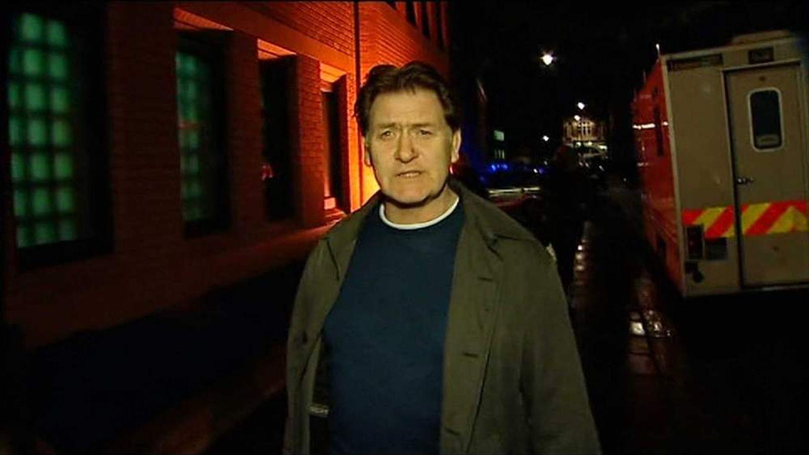 Eric Joyce leaves police station