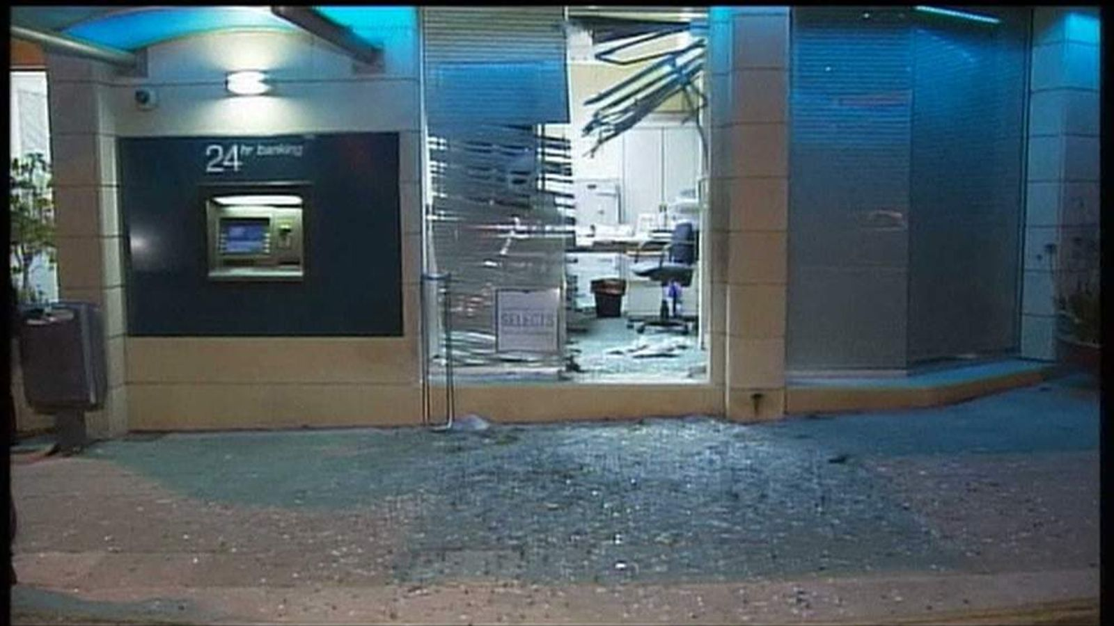 Bomb attack on a Cyprus bank